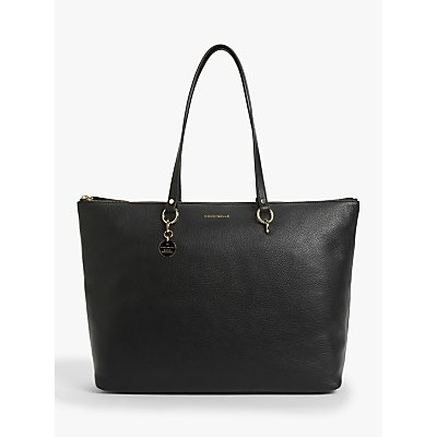 Coccinelle Alpha Maxi Leather Tote Bag