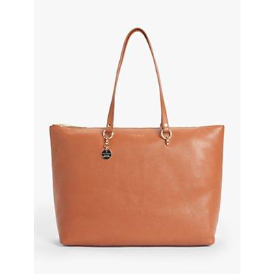 Coccinelle Alpha Maxi Leather Tote Bag, Tan