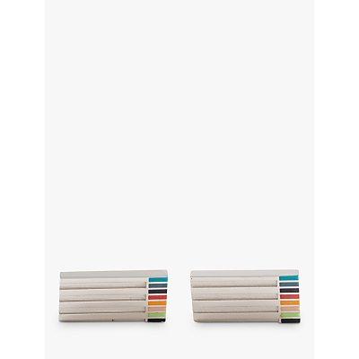 Paul Smith Etched Stripe Cufflinks  Silver Multi - 5059405479862