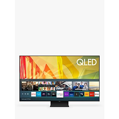 Samsung QE75Q90T (2020) QLED HDR 2000 4K Ultra HD Smart TV, 75 inch with TVPlus/Freesat HD, Black