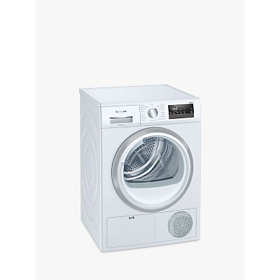 Siemens iQ300 WT45N202GB Condenser Tumble Dryer, 8kg Load, B Energy Rating, White