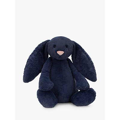 Jellycat Bashful Bunny Soft Toy, Huge, Navy