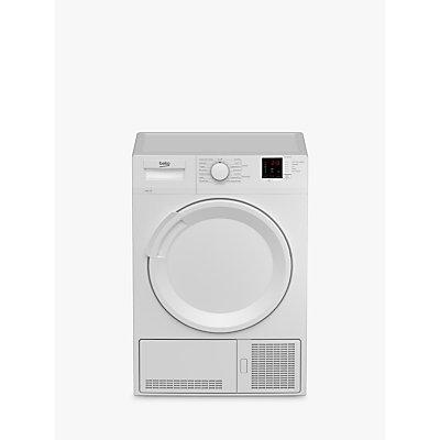 Beko DTLCE81031W Condenser Tumble Dryer, 8kg Load, B Energy Rating, White