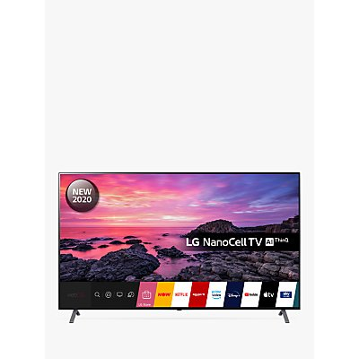 LG 75NANO906NA (2020) LED HDR NanoCell 4K Ultra HD Smart TV, 75 inch with Freeview HD/Freesat HD & Dolby Atmos, Dark Silver
