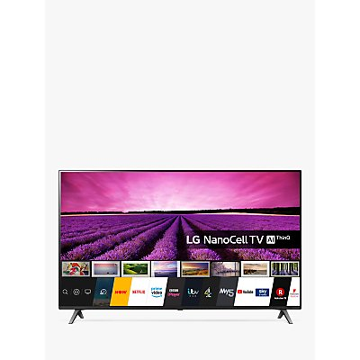 LG 55SM8050PLC (2020) LED HDR NanoCell 4K Ultra HD Smart TV, 55 inch with Freeview Play/Freesat HD, Ceramic Black/Dark Meteor Titan