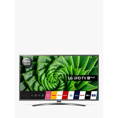 LG 43UN81006LB (2020) LED HDR 4K Ultra HD Smart TV, 43 inch with Freeview HD/Freesat HD & Crescent Stand, Light Grey Pearl