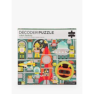 Petit Collage Robot Factory Decoder Puzzle, 100 Pieces