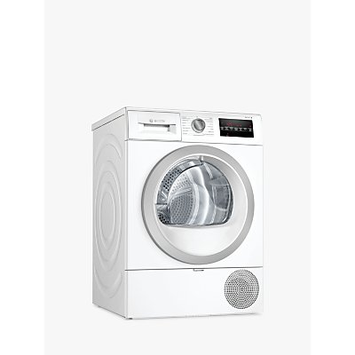 Bosch Serie 6 WTR87T82GB Freestanding Heat Pump Tumble Dryer, 8kg Load, A++ Energy Rating, White