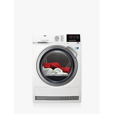 AEG T8DBG942R Heat Pump Tumble Dryer, 9kg Load, A++ Energy Rating, White