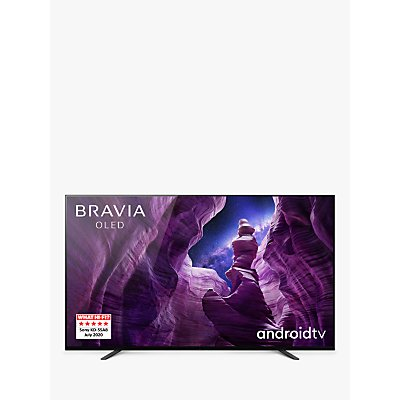 Sony Bravia KD55A8 (2020) OLED HDR 4K Ultra HD Smart Android TV, 55 inch with Freeview HD, Youview, Dolby Atmos & Acoustic Surface Audio, Black
