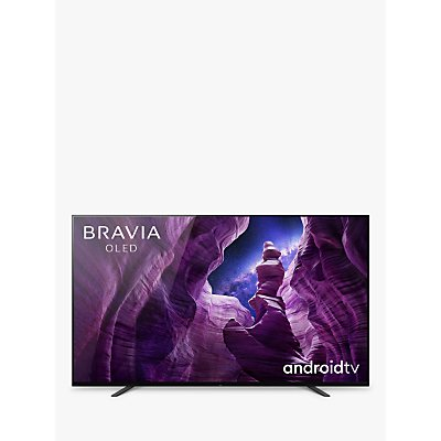 Sony Bravia KD65A8 (2020) OLED HDR 4K Ultra HD Smart Android TV, 65 inch with Freeview HD, Youview, Dolby Atmos & Acoustic Surface Audio, Black