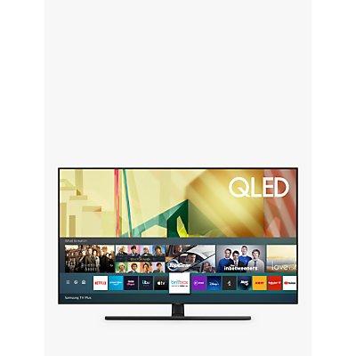 Samsung QE55Q70T (2020) QLED HDR 4K Ultra HD Smart TV, 55 inch with TVPlus/Freesat HD, Black