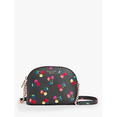 kate spade new york Cherries Small Dome Cross Body Bag, Black