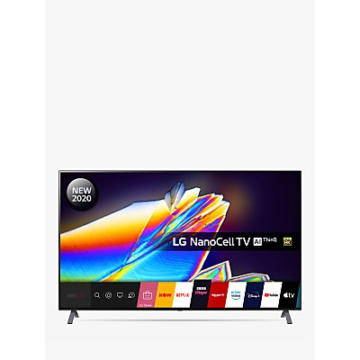 LG 65NANO956NA (2020) LED HDR NanoCell 8K Ultra HD Smart TV, 65 inch with Freeview HD/Freesat HD & Dolby Atmos, Dark Silver
