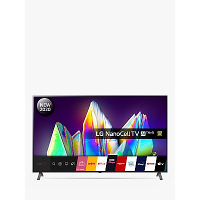 LG 65NANO996NA (2020) LED HDR NanoCell 8K Ultra HD Smart TV, 65 inch with Freeview HD/Freesat HD & Dolby Atmos, Dark Silver
