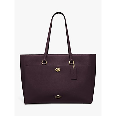 Coach Folio Leather Tote Bag