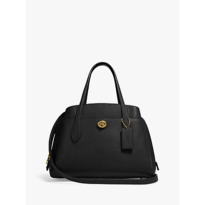 Coach Lora 30 Leather Carryall Tote Bag
