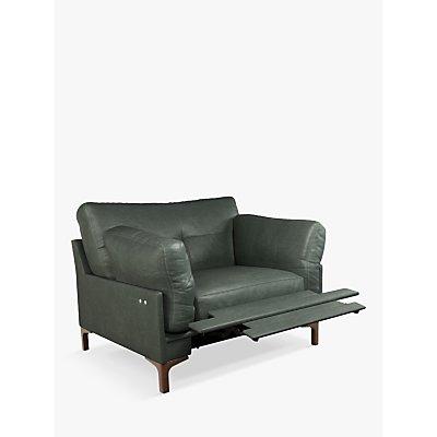 John Lewis & Partners Java II Motion Leather Armchair with Footrest Mechanism, Dark Leg