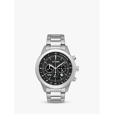 Citizen AN8150 56E Men s Eco Drive Chronograph Date Bracelet Strap Watch  Silver Black - 5060287467830