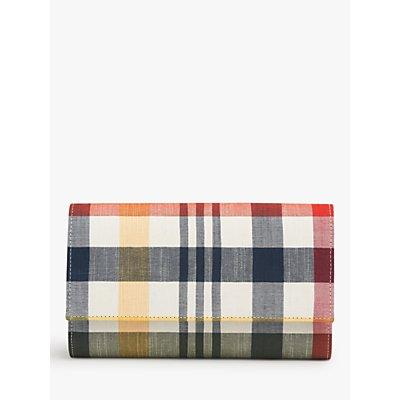 L.K.Bennett Dayana Checked Clutch Bag, Red/Multi
