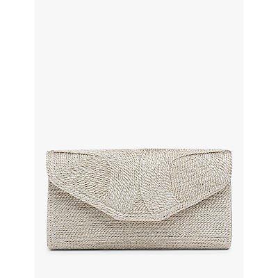 L.K.Bennett Lucia Rope Clutch Bag, Soft Gold