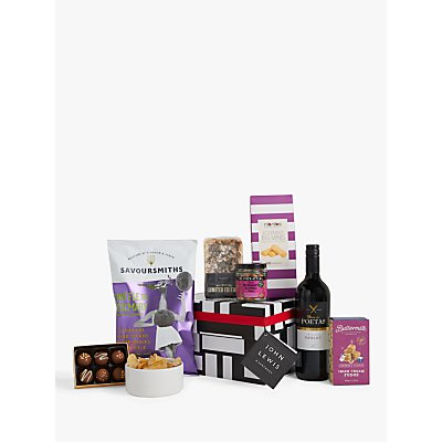 John Lewis & Partners Red Wine and Nibbles Box