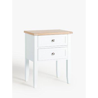 John Lewis   Partners St Ives 2 Drawer Bedside Table  FSC Certified  Oak  Birch  Oak Veneer  MDF  - 5059139962098