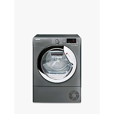 Hoover Dynamic Next DX H9A2DCER-80 Heat Pump Tumble Dryer, 9kg Load, A++ Energy Rating, Graphite