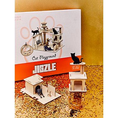 Jigzle Cat Playground 3D Puzzle Kit