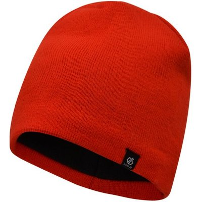 Men's Rethink Embroidered Beanie Hat Fiery Red