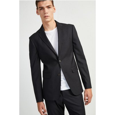 Micro Dogtooth Stretch Jacket - charcoal melange