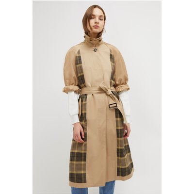 Anais Check Belted Trench - multi