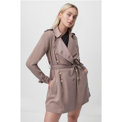 Ceza Belted Trench Coat - camel