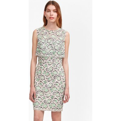 TALL Boccara Tiered Lace Dress - mineral green multi