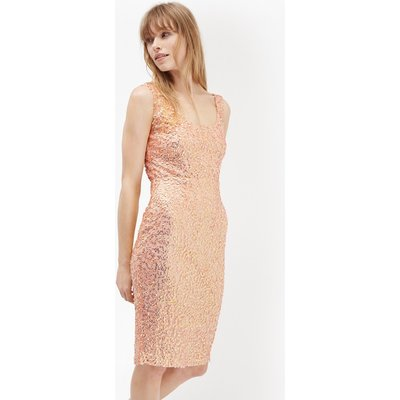 Celia Sequinned Bodycon Dress - apricot spritz