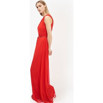 Amboselli Beaded Maxi Dress - masai red