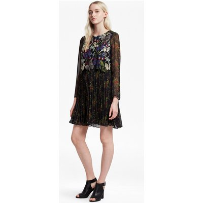 Cassatt Mix Embroidered Floral Dress - utility blue multi