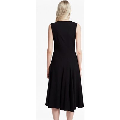 Whisper Ruth Flared Dress - black/black
