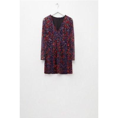 Inari Embellished Leopard Sequin Dress - multi