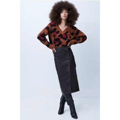 Arbia Leather Belted Skirt - decadence
