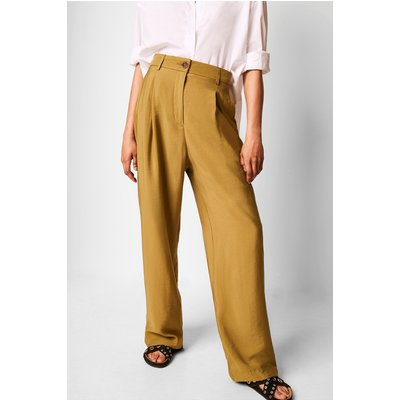 Brekhna Drape Wide Leg Trouser - lizard green