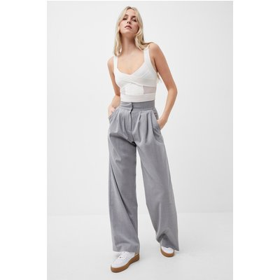 Ikari Recycled Tailored Trousers - mid grey mel
