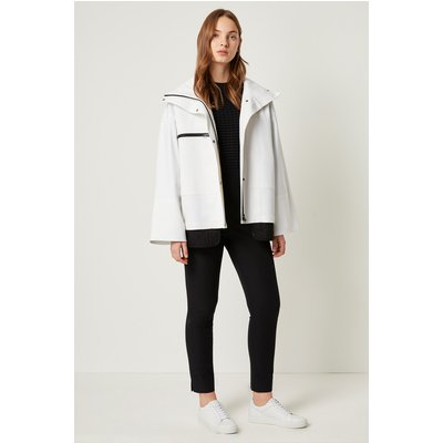 Betti Technical High Neck Jacket - white/black