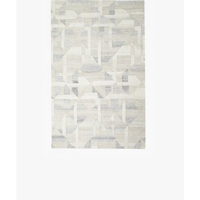 Harmonia Hand Woven Rug Made From Recycled Plastic - ivory/grey