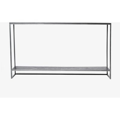 Shelved Shadow Console Table - black