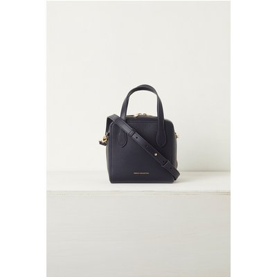 Lula Mini Square Recycled Leather Crossbody Bag - utility blue/olive oil