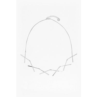 Bar Chain Necklace - silver