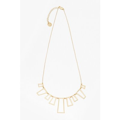 Geo Fan Necklace - gold