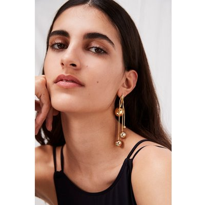Drop Ball Earrings - gold