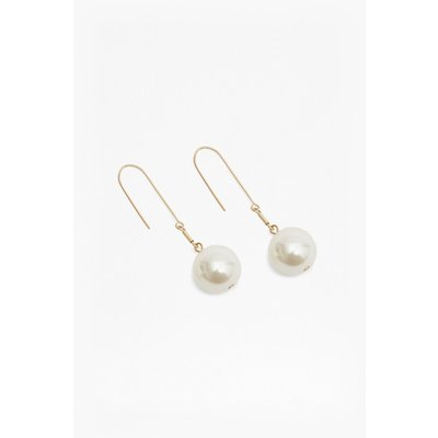 Pearl Ball Earrings - gold